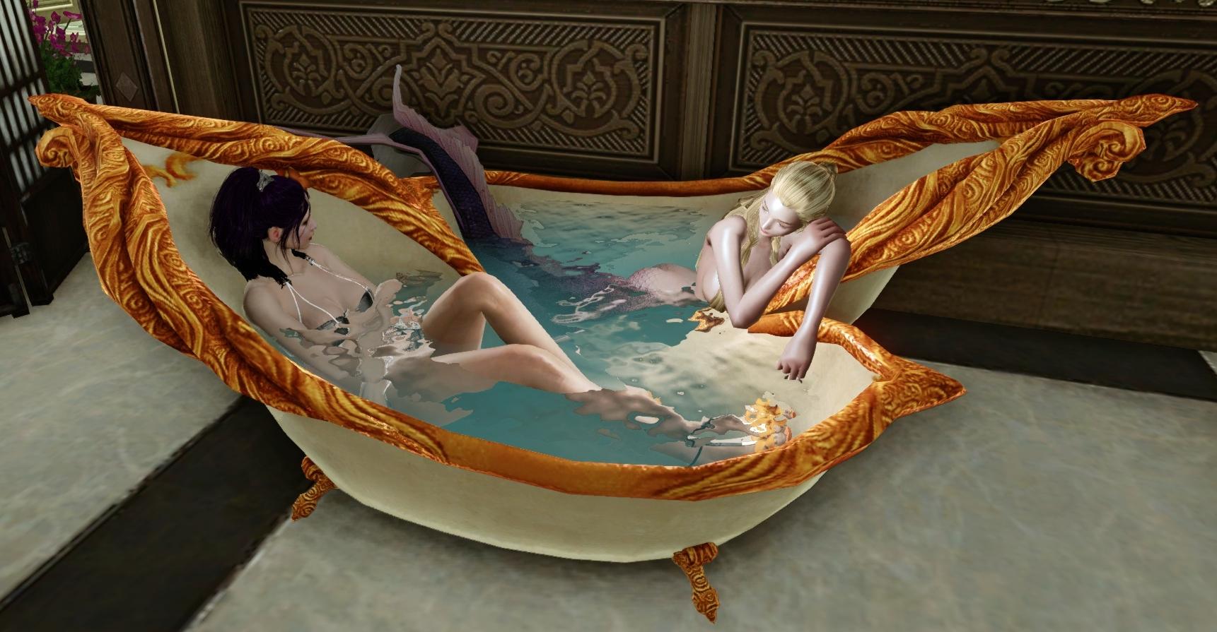 Mermaid Double Bathtub