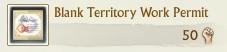 Blank Territory Work Permit